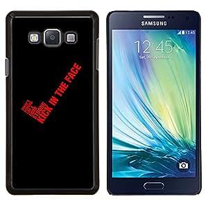 Cubierta protectora del caso de Shell Plástico || Samsung Galaxy A7 ( A7000 ) || Red Cita Sangre Texto Negro Sí Kick @XPTECH