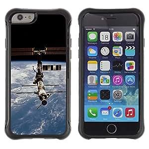 Suave TPU GEL Carcasa Funda Silicona Blando Estuche Caso de protección (para) Apple Iphone 6 / CECELL Phone case / / Satellite Space Station Orbit Earth Planet /