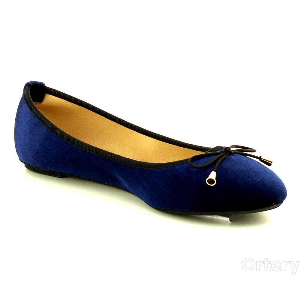 WestCoast Fancy Women's Slip On Ballerina Ballet Flat Shoes B06XG8Y7GJ 8 M US|Navy-01