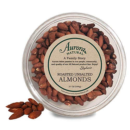(Aurora Natural Products Roasted Almonds, Unsalted, 21 Ounce)