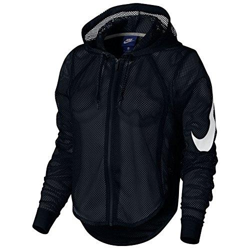 New Nike Women's Nike Sportswear Hoodie BLACK/BLACK/WHITE S