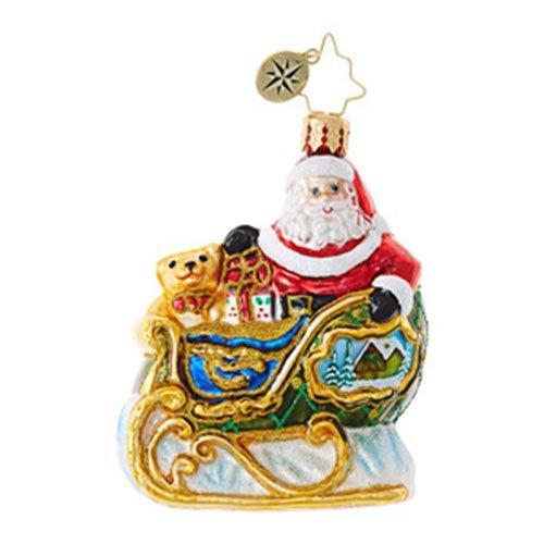 Christopher Radko Village Sleigh Ride Little Gem Christmas Ornament