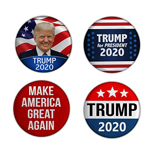 Obama Campaign Buttons - Elephield 2 1/4 inch President Trump 2020 Elections Campaign Support Pin Buttons Pack of 4, Set A