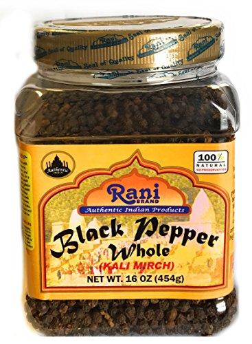 Rani Black Pepper Whole 16oz (454g) (Seed 16 Oz Ground Bottle)