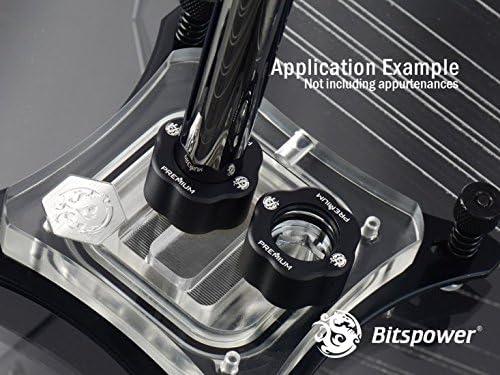 Bitspower G1//4 Premium Master Hard Tube Compression Fitting for 16mm OD Rigid Tubing 6-Pack Abrasive Black