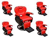 Five All Purpose Hydraulic Recline Barber Chairs Salon Beauty Spa Shampoo 8702 Red