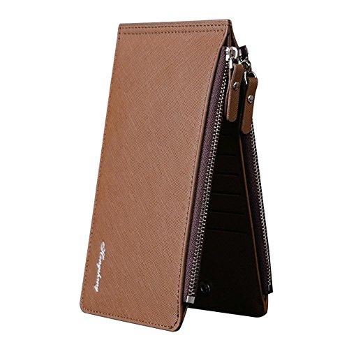 Axiba Karte Tasche Geldbörse mans Taste Brieftasche Handy Tasche Double Zip Wallet A TfEp44E