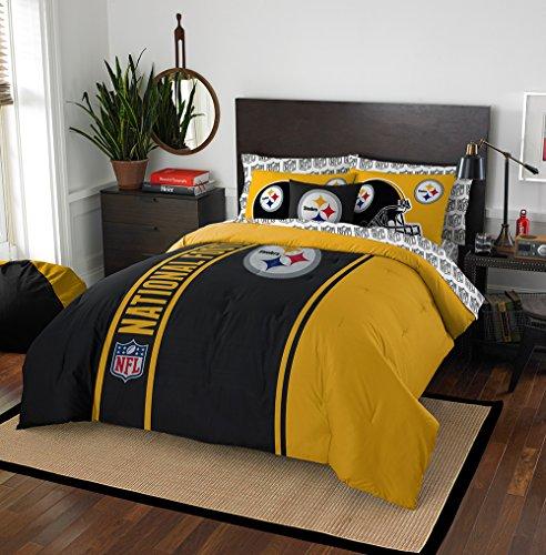 NFL Pittsburgh Steelers Soft & Cozy Full Comforter Set (7 Piece), 76