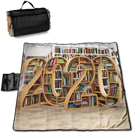 Olie Cam Stuoia da Spiaggia per libreria 2020 Coperta da Picnic, stuoia da Picnic Pieghevole Impermeabile, Coperta da Spiaggia Portatile all'aperto