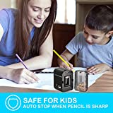BOOCOSA Pencil Sharpener, BEST Heavy Duty Steel Blade, Electric Pencils Sharpener with Auto Stop for School Classroom Office Home - Precise Perfect Point Every time for Artists Kids Adults (black)