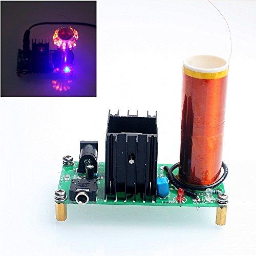 DIKAVS DIY Mini Tesla Coil Kit 15W Mini Music Tesla Coil Plasma Speaker Tesla Wireless Transmission DC 15-24v