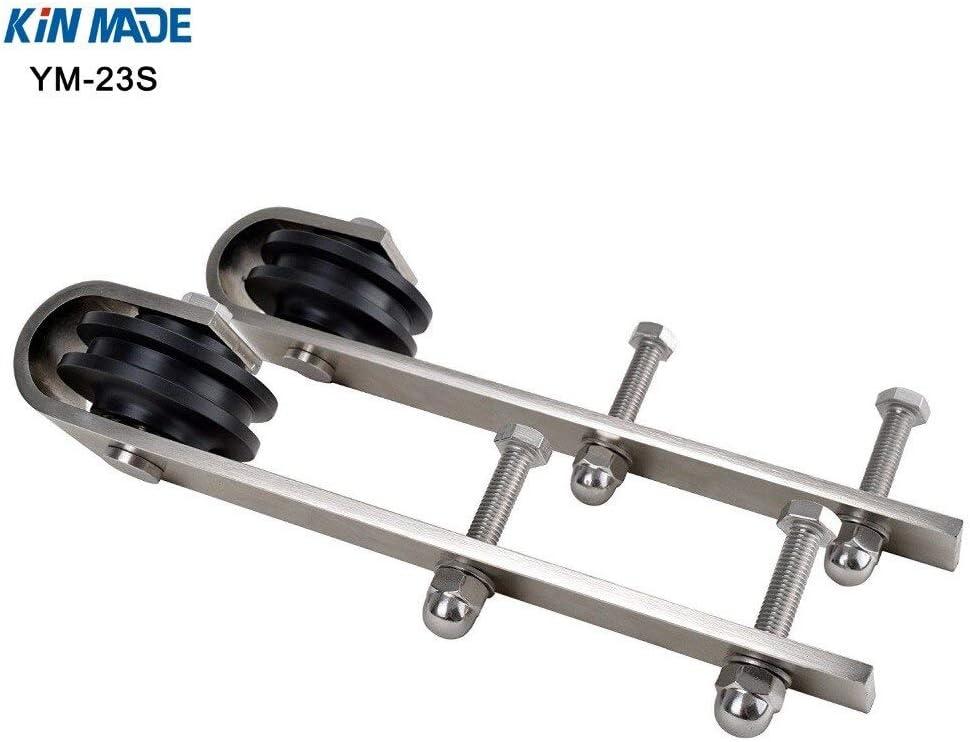 Length: 4pcs Roller KIN Made Stainless Steel 304 Sliding Barn Door Hardware Roller Kits