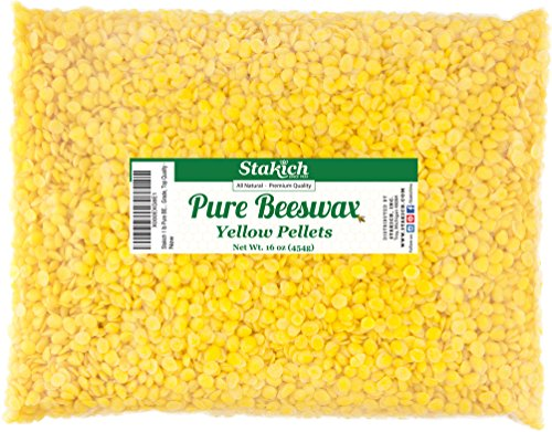 Stakich Pure YELLOW BEESWAX Pellets - 100% Natural, Cosmetic Grade, Premium Quality -