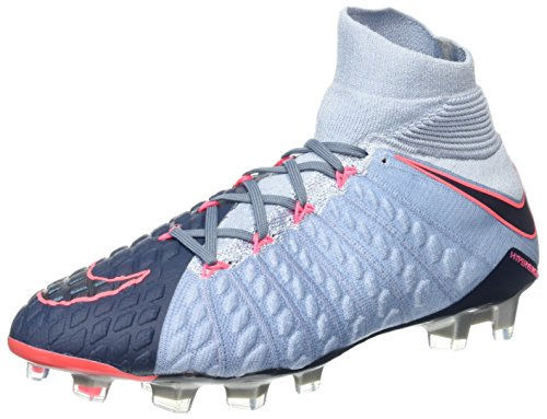 NIKE Men's Hypervenom Phantom III DF FG Soccer Cleats (9.5 D(M) US, Light Armory Blue)