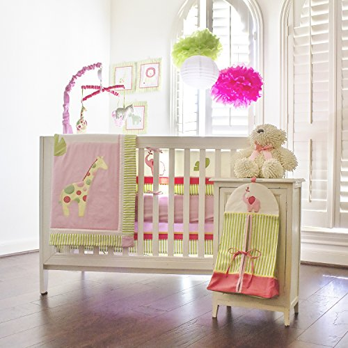 Pam-Grace-Creations-Zoes-Zoo-Day-10-Piece-Crib-Set-With-Bumper-Zoes-Zoo-Day