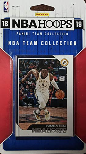 Indiana Pacers 2018 2019 Hoops Basketball Factory Sealed 10 Card NBA Licensed Team Set with Victor Oladipo, Domantas Sabonis, Aaron Holiday Rookie Card Plus