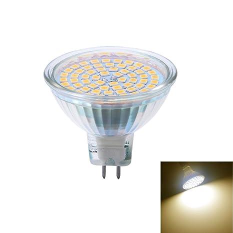 Bombilla LED GU5.3/MR16 Blanco Cálido Bombilla de 5 W, equivalente a