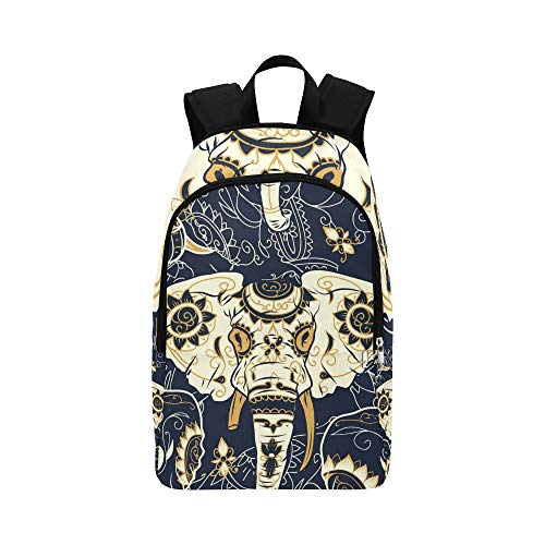 Day Dead Colorful Sugar Skull Indian Casual Daypack Travel Bag College School Backpack for Mens and Women ()