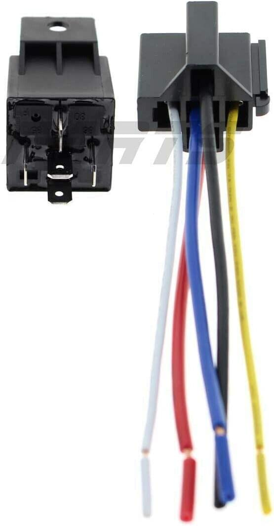 12V 5-Terminal 30//40 AMP Waterproof Starter Relay Connector for Harley 31506-79B