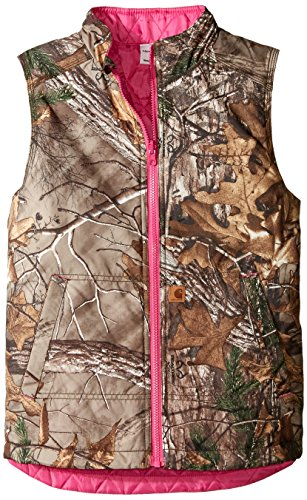 (Carhartt Girls' Big' Reversible Camo Vest, Xtra, Medium (10/12))