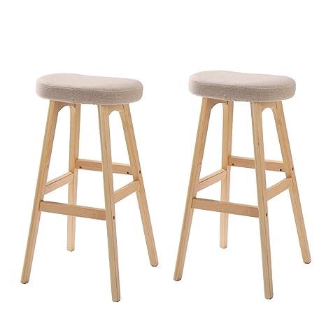 Prime Amazon Com Xlcz A Set Of 2 Bar Stools Square Saddle Stool Pdpeps Interior Chair Design Pdpepsorg
