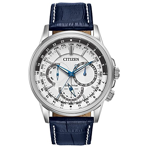 Eco Drive World Time Watch - Citizen Men's Eco-Drive Calendrier Watch with Day/Date, BU2020-02A