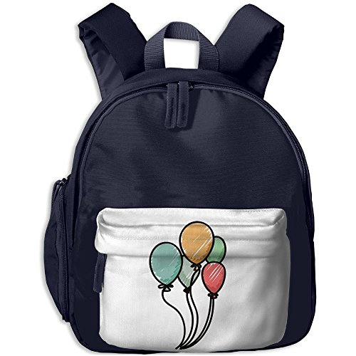 Kids Cute Vector Nice Hand Colored Balloons School Bags Packbags For Boys And Girls