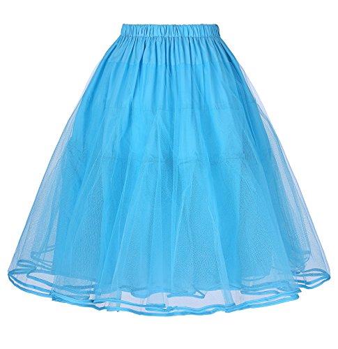 en Annes BP177 Bp225 Femme Tulle Court Robe Belle Jupon Poque 50 Jupe Bleu Vintage sous Yafex OAzwxUP