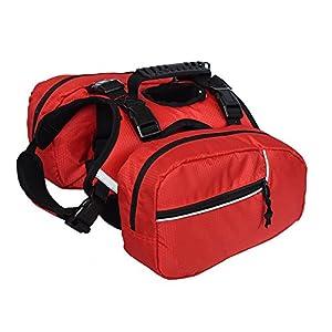 Ultrafun Dog Saddlebag Backpack Detachable Pack Adjustable Harness for Dogs Outdoor Travel