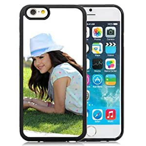 Personality customization Custom Selena Gomez Grass Lie Hat Girl Smile Celebrity iPhone 6 4.7 inch cell phone case At LINtt Cases