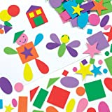 Self-Adhesive Assorted Foam Shapes Children's Craft, Collage, Card Making, Scrapbooking (Pack of 180)