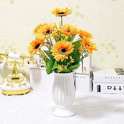 WANG-shunlida Flores El Paquete De Simulación Home Furnishing Sola Decoración Floral De Flores Blancas