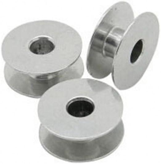 chengyida 50- unidades aluminio Industrial máquina de coser bobinas para Brother Singer: Amazon.es: Hogar
