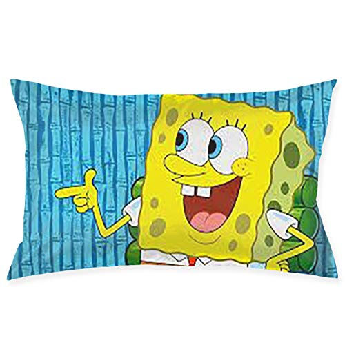 Greatbe Fundas de Almohadas Throw Pillow Bob Esponja Ambos ...