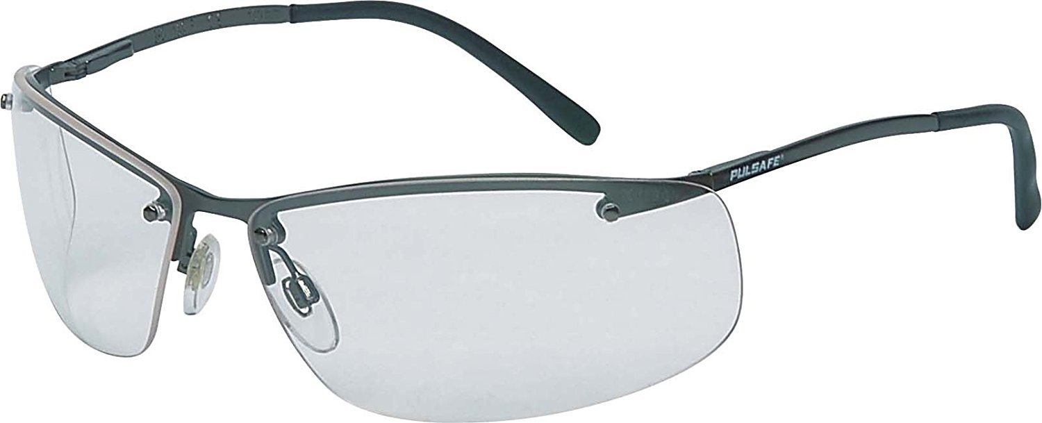 Honeywell 908730 Tactile T2400 Safety Eyewear Frame with Clear Anti-Scratch Lens - Black (12-Piece) zLVxF