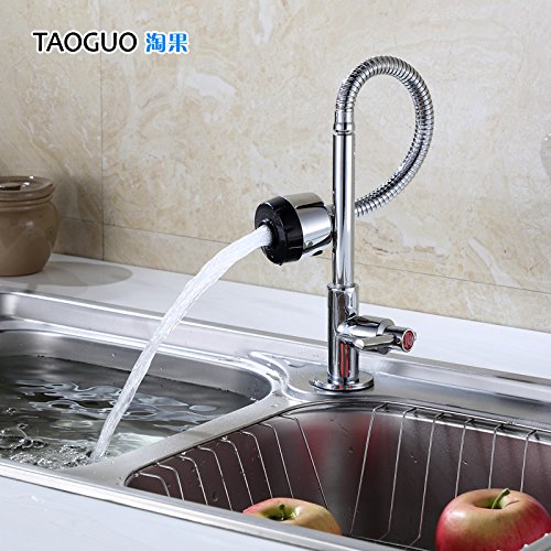 Bijjaladeva Antique Kitchen Sink Mixer Tap Single Cold Express Open Faucet Kitchen Sink to wash The Dishes in a Bathtub Full Copper Faucet C Classic Turn Tower B Classic