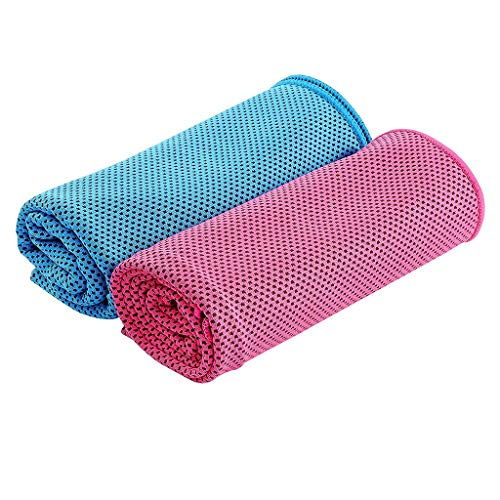 MChoice❤️2pcs Cooling Towel Super Absorbent Cooling Towel for Sports Fitness Yoga Travel Camping