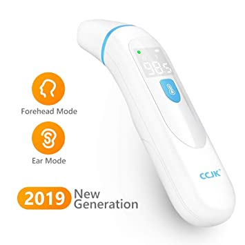 Medical Thermometer Forehead and Ear Dual Mode Thermometers Digital Medical Infrared Thermometer Instant Accurate and Fast Readings for Infants Kids and Adults with Fever Indicator