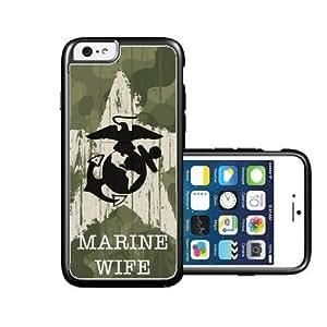 RCGrafix Brand Us Marine Wife Camo iPhone 6 Case - Fits NEW Apple iPhone 6 wangjiang maoyi