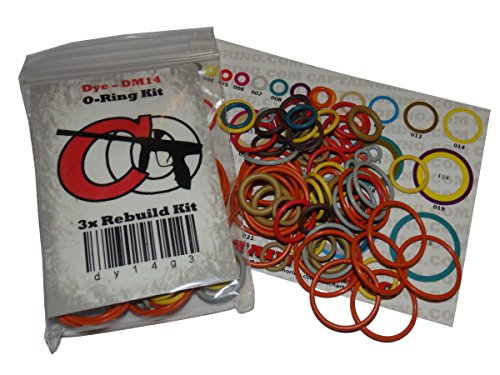 Dye DM4 / DM5 / DMC / DM6 / DM7 - Color Coded 3x Oring Rebuild Kit