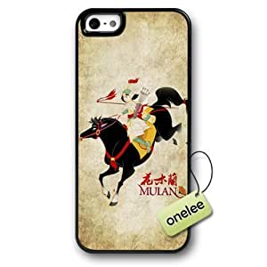 Beautiful Diy Cartoon Mulan Hard Plastic cell phone case cover JtGt0mCNFNz & Cover for iPhone 5/5s - Black 1 by heywan