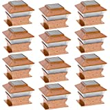 GreenLighting 12 Pack Solar Square Outdoor Post Cap Deck Lights for 4x4 (Copper)
