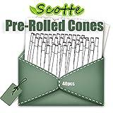 Scotte 40 Pre Rolled Cones 1 1/4 Size Organic