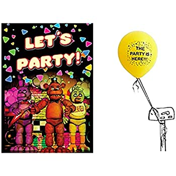 Five Nights At Freddys Party Invitations For 16 Guests