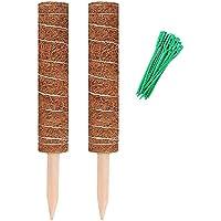 OVBBESS Moss Pole 40cm Mospaal voor kaasplant, stapelbare mosstok en stropdassen, kokosplantenondersteuning voor binnen…