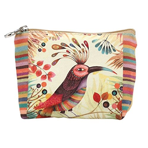 Zipper Butterfly Small Colorfulbird Iron Coin Wallet Cartoon Purses Wallet Handbag Canvas Women Ladies Purse HFzqnxHO