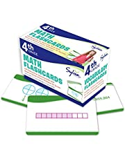 4th Grade Math Flashcards: 240 Flashcards for Improving Math Skills (Place Value, Comparing Numbers, Rounding Numbers, Fractions, Decimals, Measurements, Geometry)