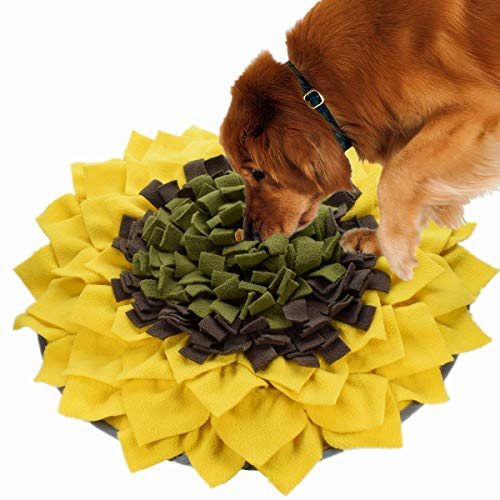 Dog Snuffle Mat Feeding Mat, Pet Smell Training Mat Nosework Blanket, Durable and Machine Washable Dogs Puzzle Toys for Foraging Skills and Stress Release