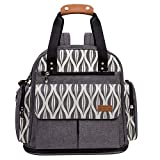 Lekebaby Baby Diaper Bag Backpack with Changing Pad Unisex for Mom and Dad