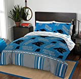 The Northwest Company NFL Carolina Panthers Queen Bed in a Bag Complete Bedding Set #873411211